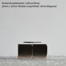 Schwebender Graphit / Graphitfolie 6,25 cm²