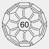 Fulleren C60 100mg (CAS-Nr.: 99685-96-8) >99,5%, Glasflasche